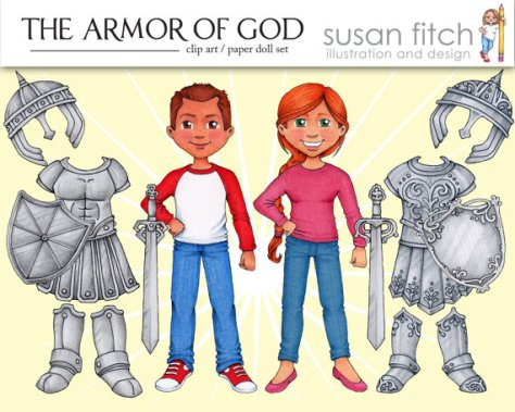 armor paper doll